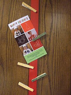 Easy Ribbon Christmas Card Holder ART HOLDERS FOR KITCHEN  BOTH SIDES OF  PAINTING AND PANTRY