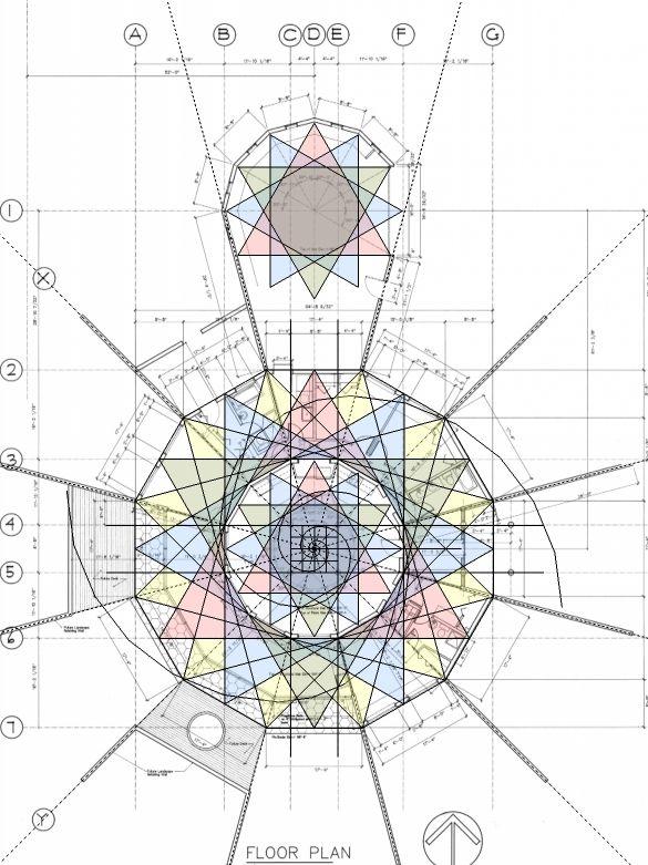 Floor plan using Phi \ Fibonacci by EarthLogeDesigns,  - lpo template