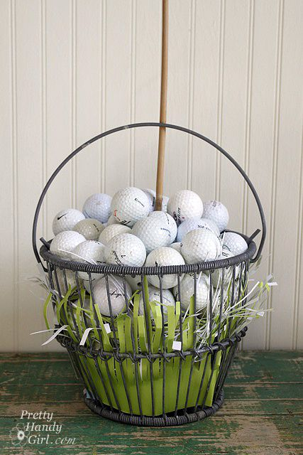 Fathers day gift idea golf gift basket gifts for my golfer cute easter basket idea for him negle Gallery