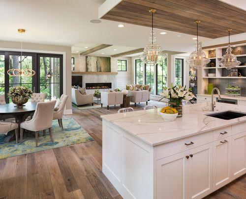 70 Transitional Kitchen Ideas Photos Open Plan Kitchen Living Room Open Concept Kitchen Living Room Kitchen Concepts