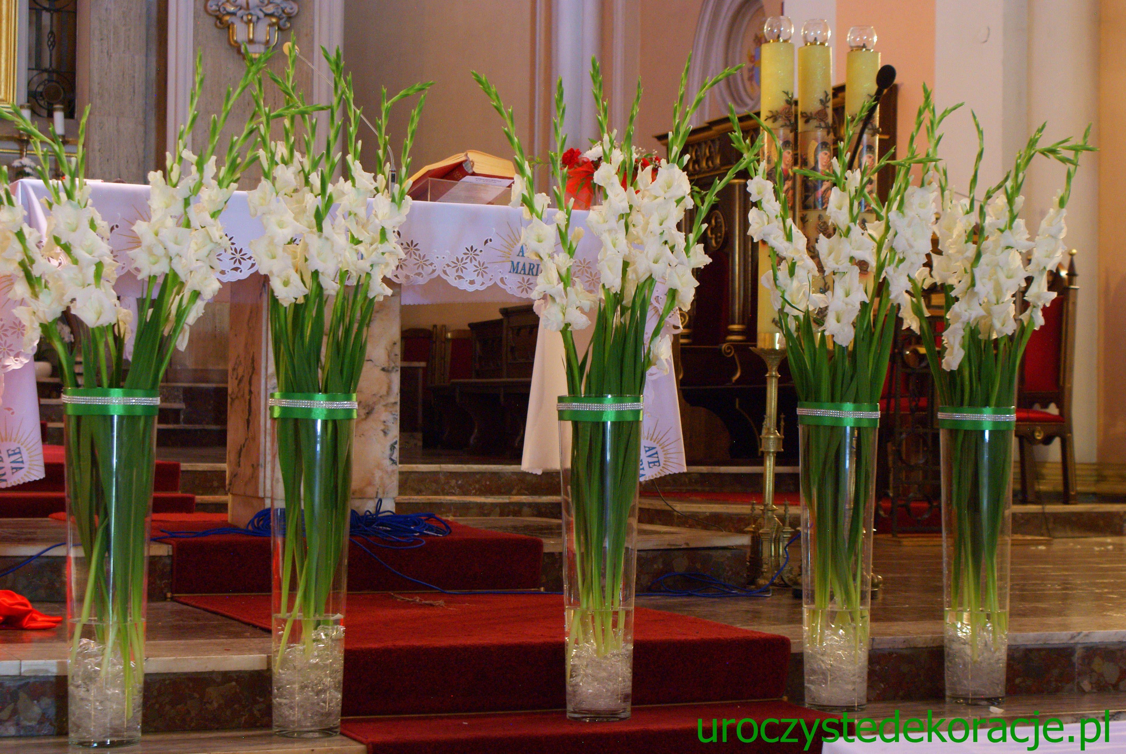 Dekoracje Oltarzy Na Slub Wedding Centerpieces Diy Church Decor Church Wedding Decorations