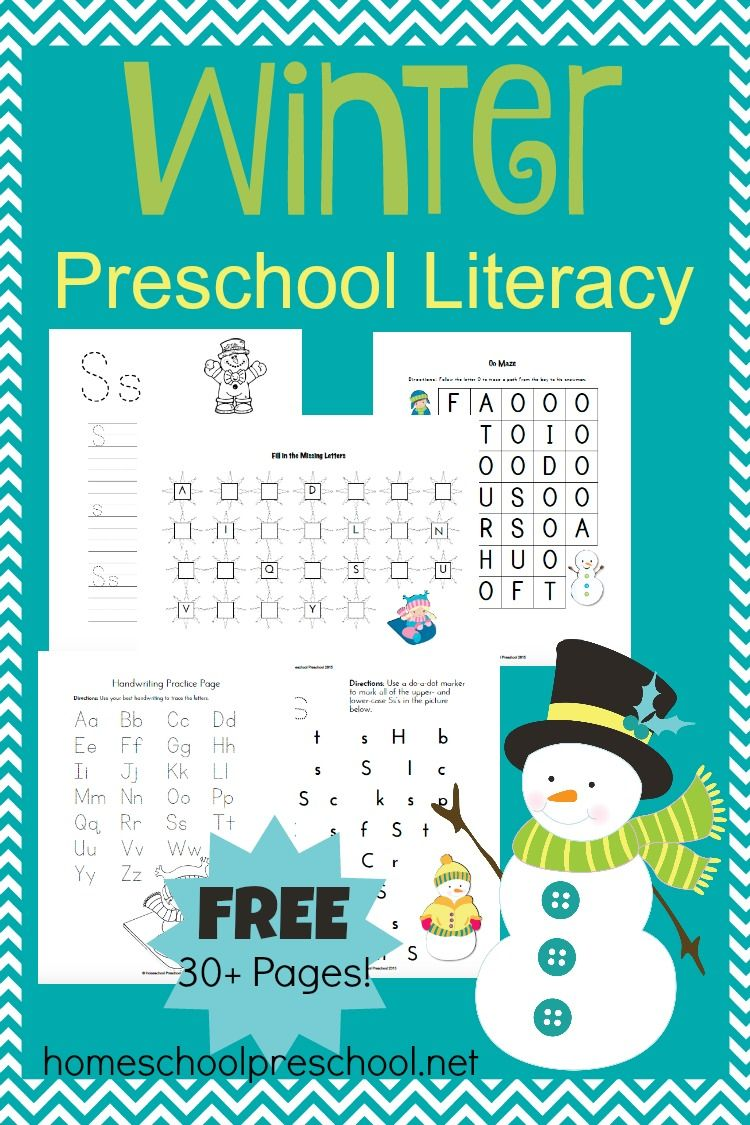How to Use Our Winter Preschool Literacy Activities | Preschool ...