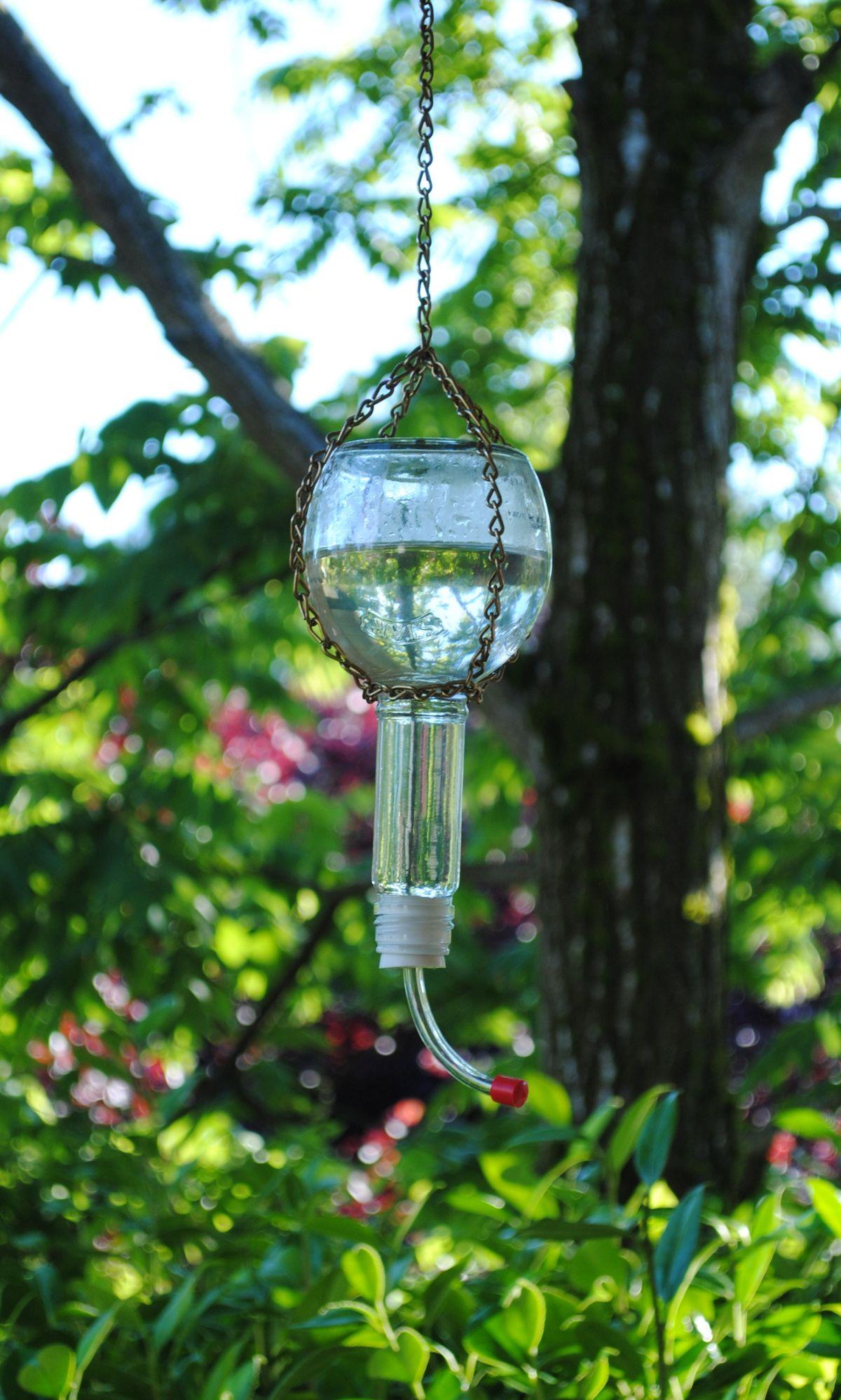 Diy glass bottle hummingbird feeder glass bottle diy