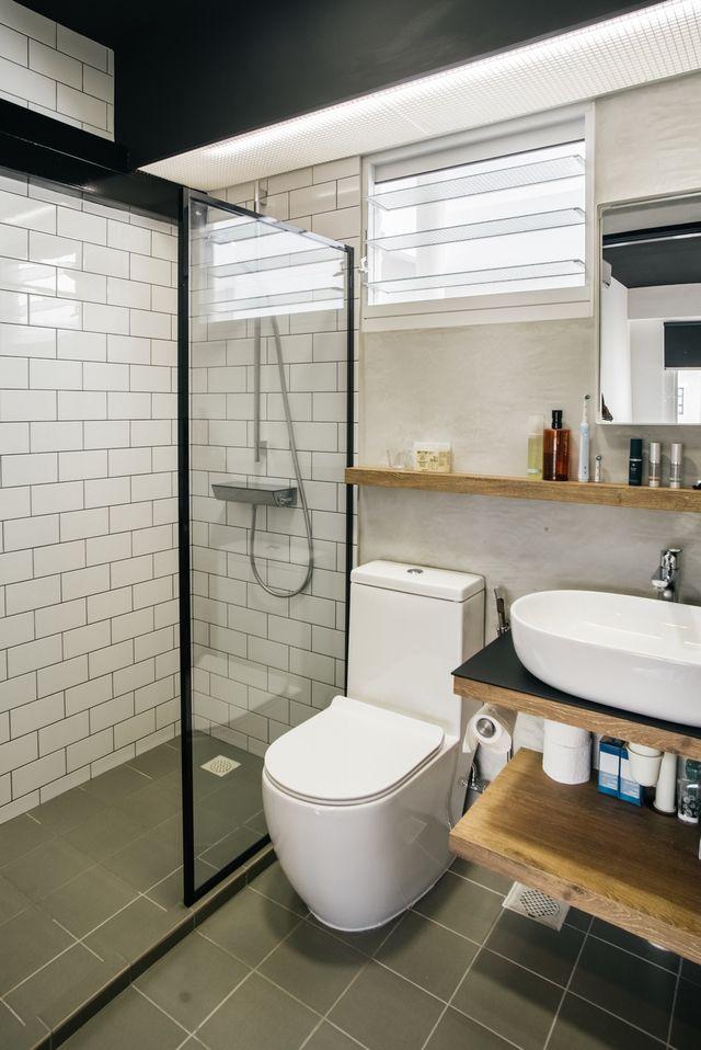 This 4 Room Flat Blends Raw And Retro Together Perfectly Renotalk Singapore Interior Design Singapore Interior Renovation Stylish Bathroom