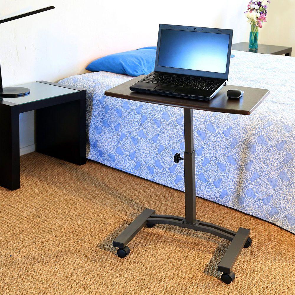 Mobile Laptop Desk Rolling Cart Office Table Stand Computer Workstation Portable Sevilleclassics Mod Cheap Computer Desk Adjustable Computer Desk Laptop Desk