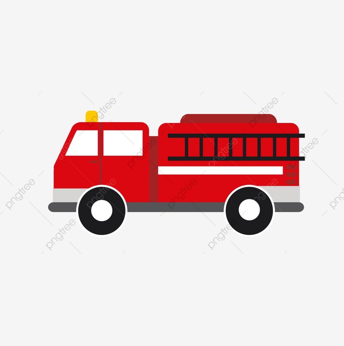 Fire Truck Extinguishing Q Version Cartoon 119 Red Lovely Png Transparent Clipart Image And Psd File For Free Download Fire Trucks Truck Theme Room Fire Truck Party