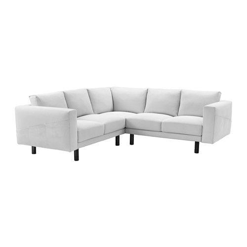 NORSBORG Ecksofa 2+2 - Finnsta weiß, grau - IKEA Wohnzimmer - wohnzimmer couch weis grau