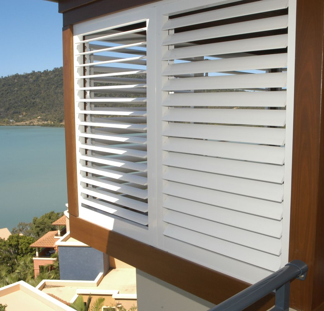 Exterior Plantation Shutters In White Stunning Shutters