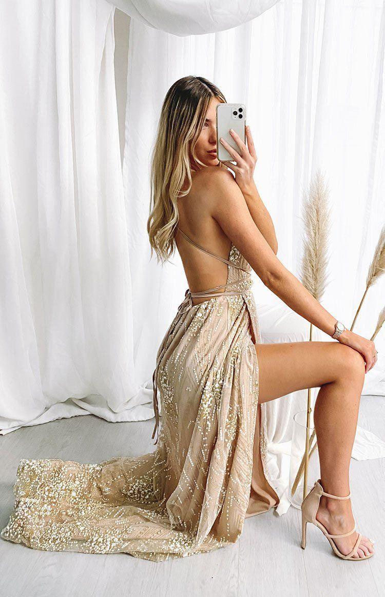 Madeline Formal Dress Rose Gold In 2021 Dresses Gold Prom Dresses Formal Dresses [ 1164 x 750 Pixel ]