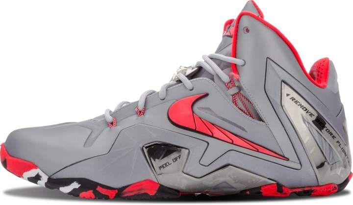 d0b93546cd3a Nike Lebron 11 Elite  Team  - Wolf Grey Laser Crimson