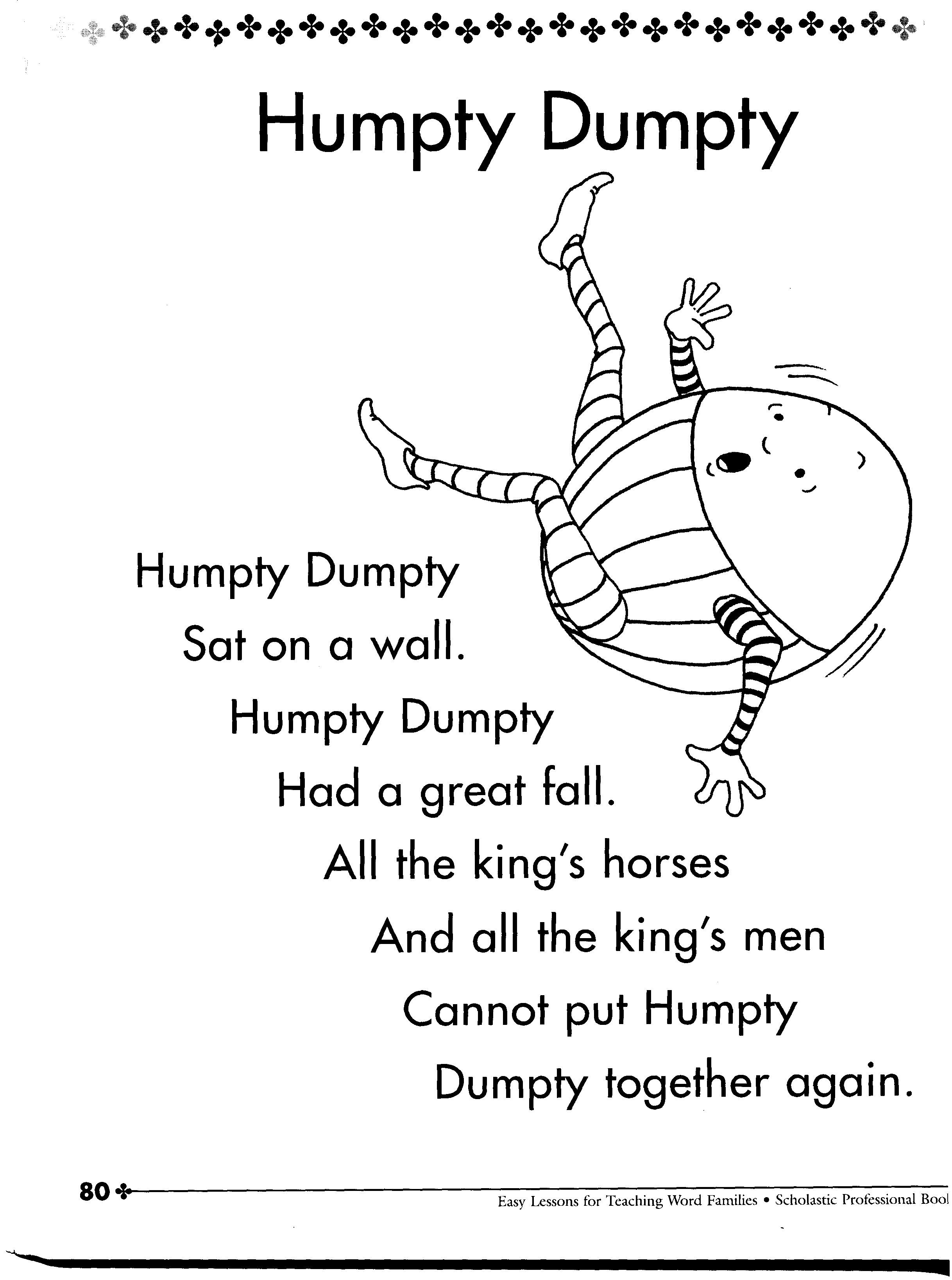 It Never Said He Was An Egg Humpty Dumpty Nursery Rhyme
