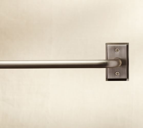 Pb Essential Room Darkening Curtain Rod Wall Bracket Pewter Finish Pewter Curtains Decorative Curtain Rods Curtain Rods