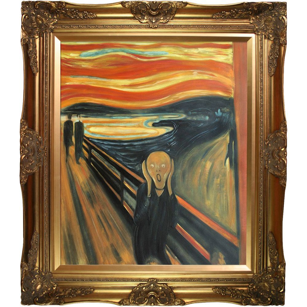 Edvard Munch \'The Scream\' Hand Painted Framed Art | Products ...