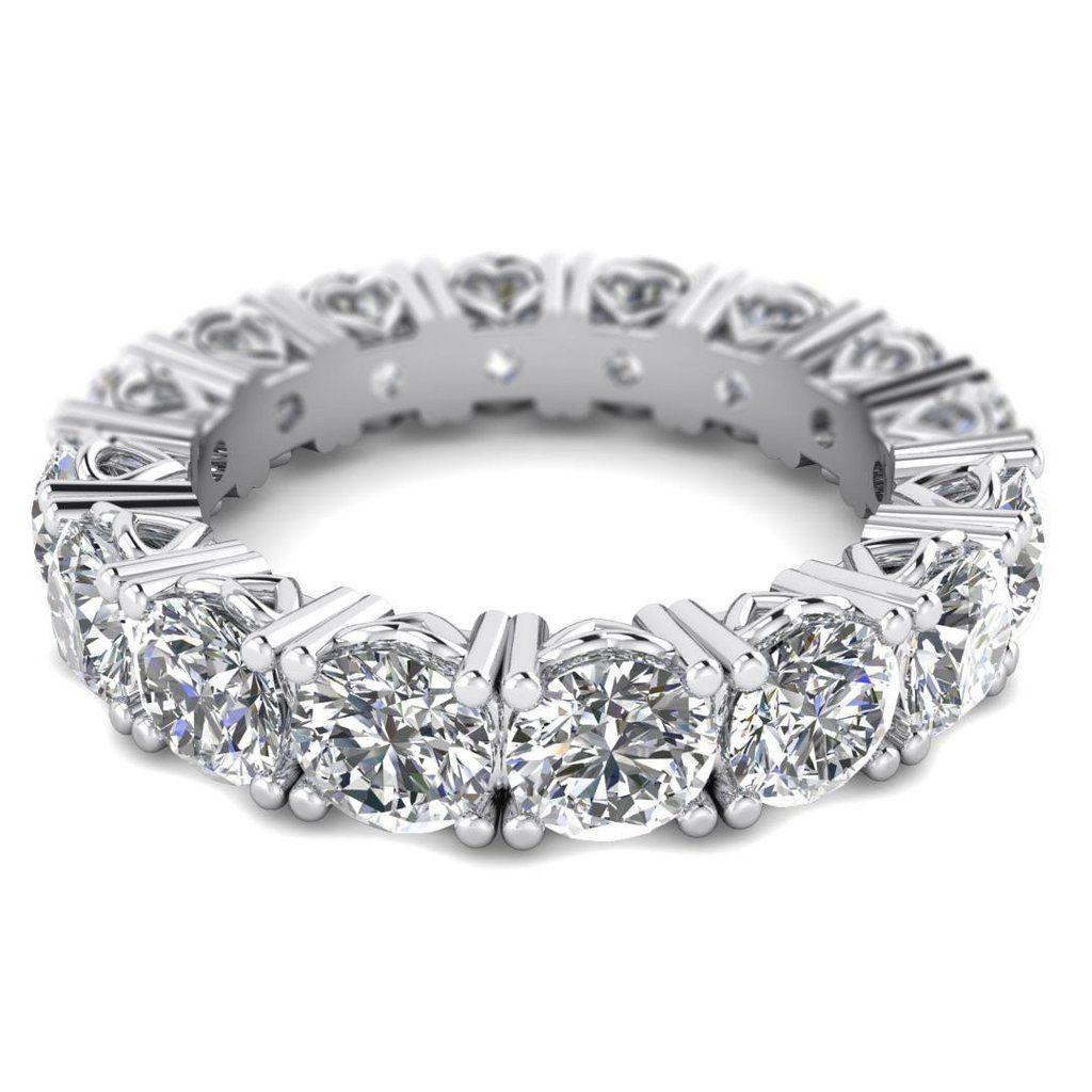 5 Carat D Vs 100 Natural Full Eternity Round Diamond Ring In 14k White Gold Eternity Ring Eternity Band Diamond Eternity Ring Diamond