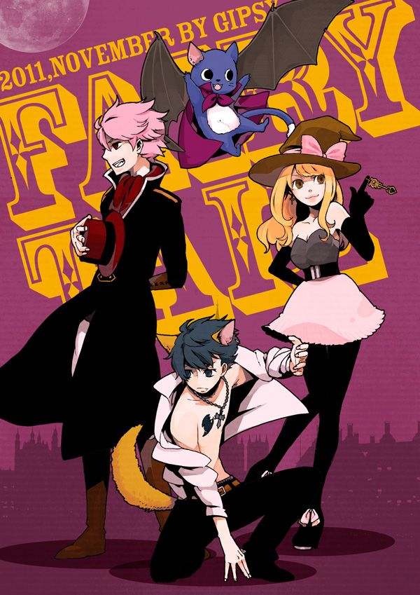 Looks like Fairy Tails ready for Halloween! Either that or cosplay :3
