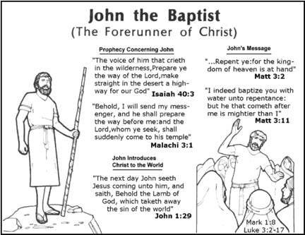 Lesson 6 john the baptist word of g d pinterest for John the baptist craft for kids