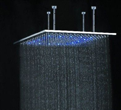 24 Rainfall Stainless Steel Square Led Shower Head Modern Showers