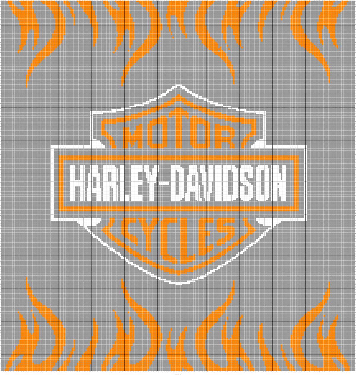 harleydavidsonlogodesignthrownew3 Cross stitch