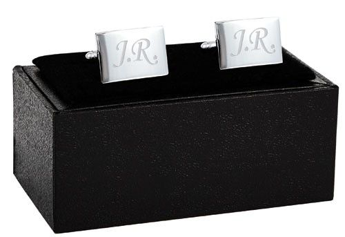 Designed to feature initials of your choice, our personalised silver-plated Cufflinks make ideal gifts and are suitable for both day and evening wear