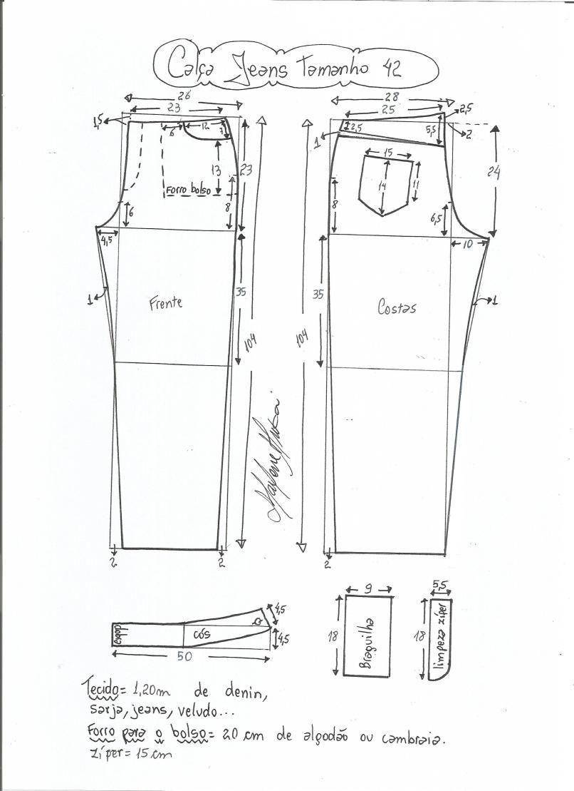 Patrón de pantalones vaqueros | Cintura, Medias y Jeans