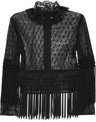 ShopStyle: Dolce & Gabbana Fringed tulle and lace jacket