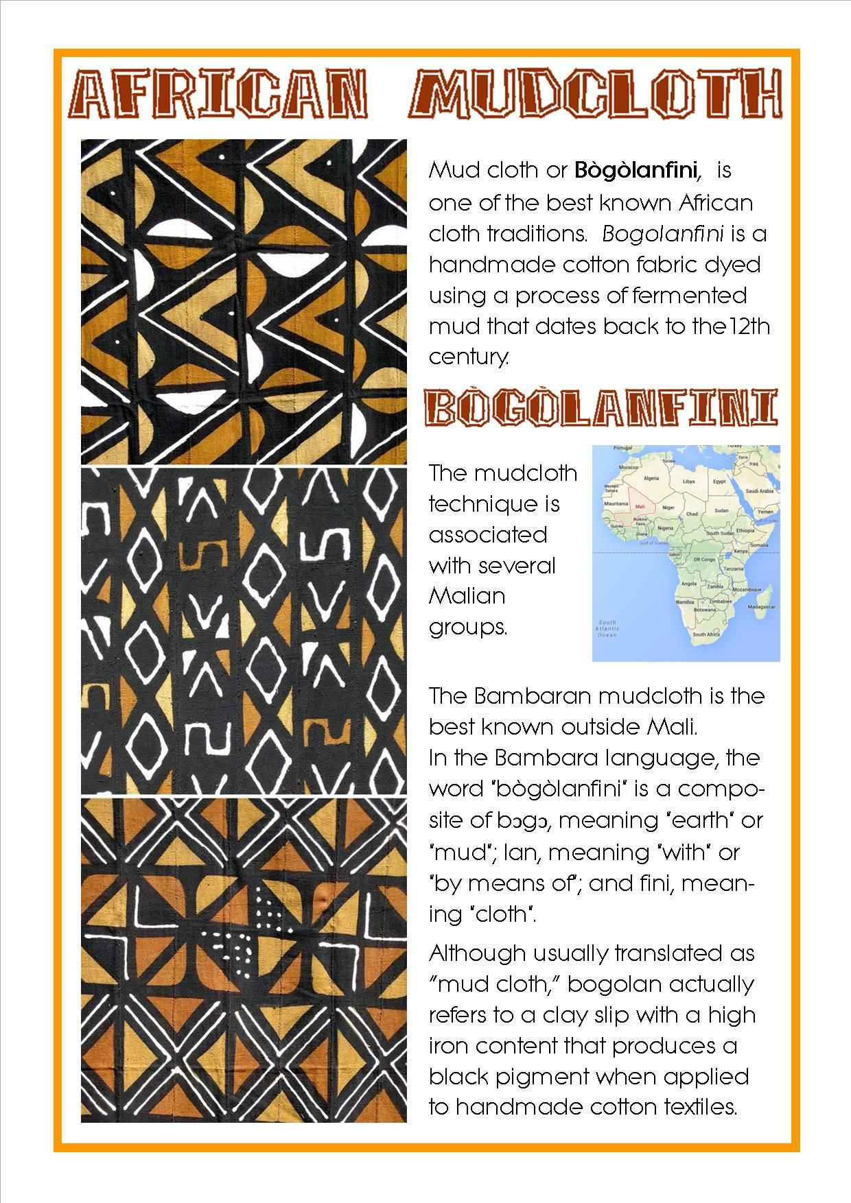African Mudcloths Bogolanfini African Art Projects
