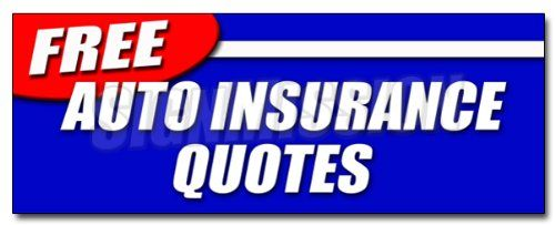 "Car Insurance Free Quote 48"" Free Auto Insurance Quotes Decal Sticker Car Motorcycle"
