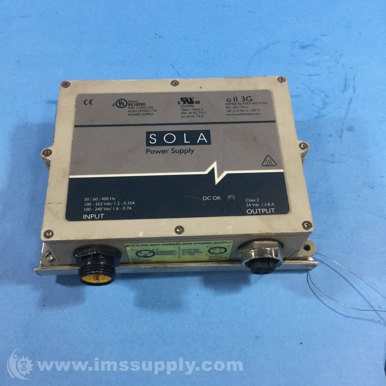 Sola Scp100s24x Dvn Power Supply 24vdc 3 8amp 100watt Out 85 264v Power Supply Power Supply