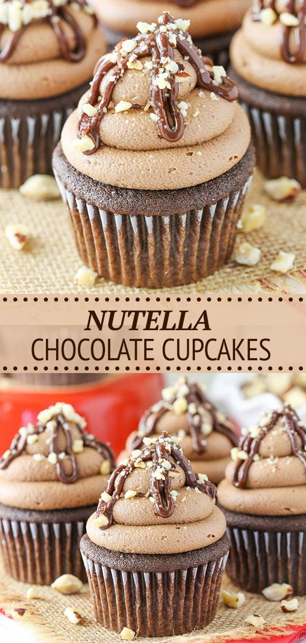 Nutella Chocolate Cupcakes Recipe