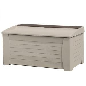 Suncast 127 Gallon Deck Box With Seat Discontinued Db12000pb The Home Depot Deck Box Storage Outdoor Storage Boxes Patio Storage