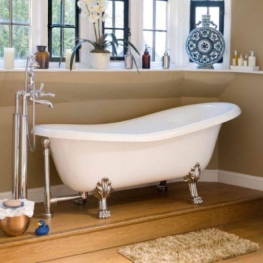 Victoria and Albert ROX-N-WH Roxburgh White Clawfoot Tub with White ...