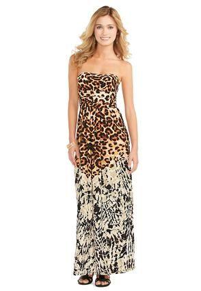 89549547fc0 Cato Fashions Strapless Leopard Print Maxi Dress  CatoFashions So neat I  Love it!!