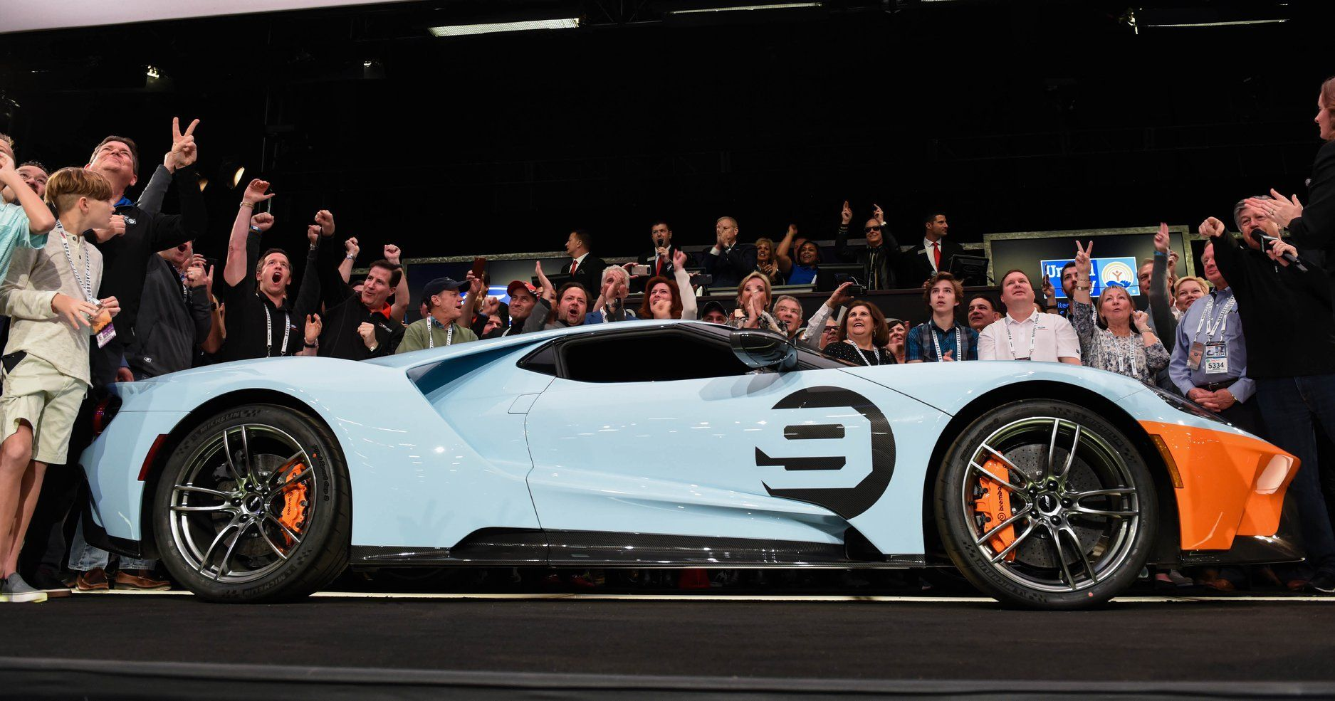 2019 Ford Gt Heritage Edition Vin 001 Sells For 2 5 Million