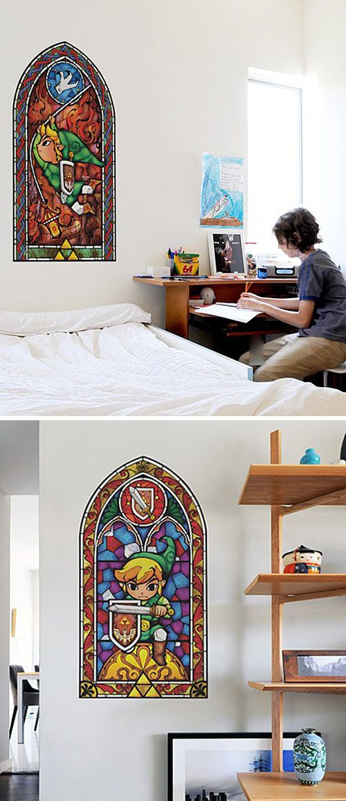Zelda Stained Glass Wall Decals #shutupandtakemyyen #zelda #nintendo #legendofzelda #link # & Zelda Stained Glass Wall Decal | Nintendo Wall decals and Video games