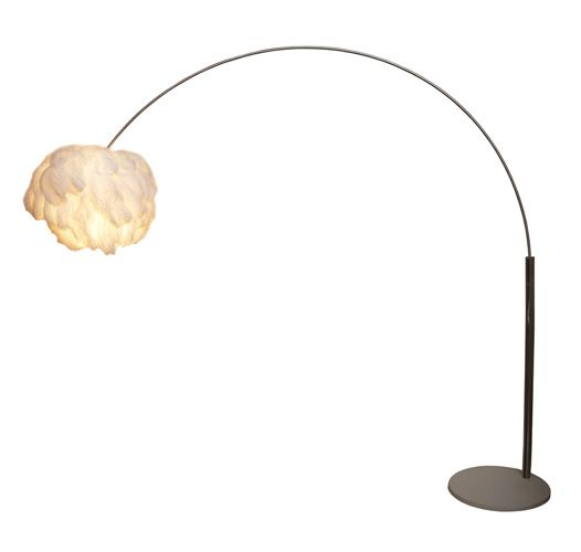 with floor lamp george lamps arc shade brown fabric kovacs