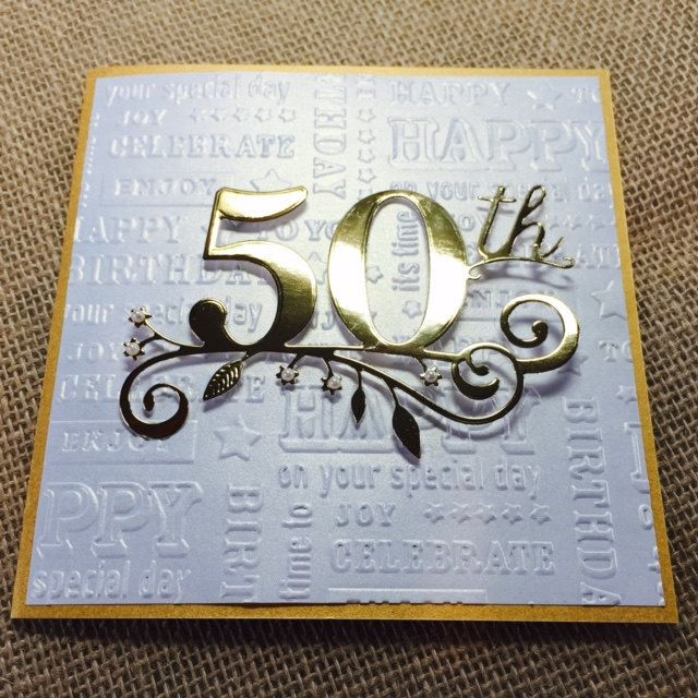 card making ideas 50th birthday