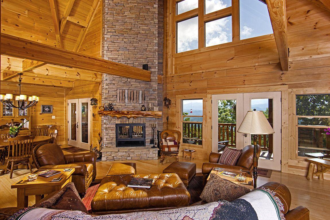 Log Home Living Room Decorating Ideas - Home Decorating