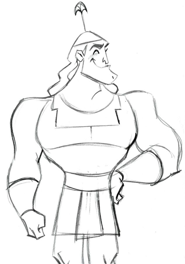kronk coloring pages - photo#3