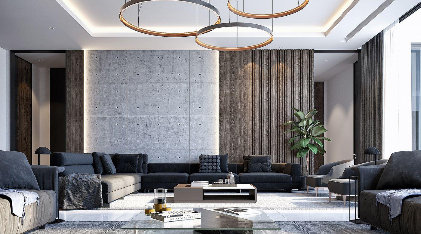 Chill House On Behance Staircase Design Modern Living Room Modern Modern House Design Living room modern design
