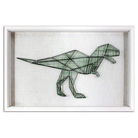 Dinosaur String Framed Wall Art - Pillowfort™ - Art Projects | Pinterest