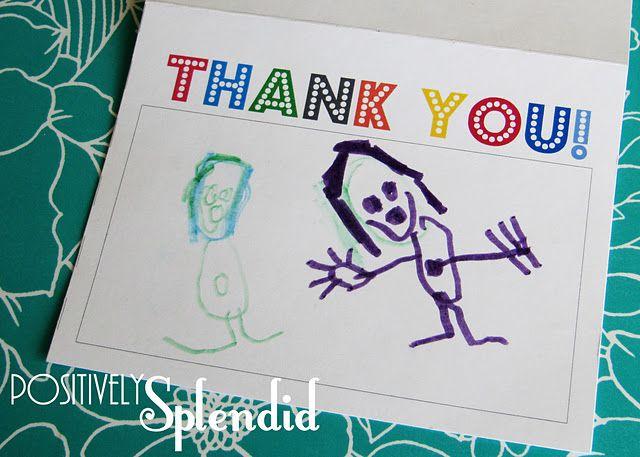 teaching gratitude to kids free thank you printable paper