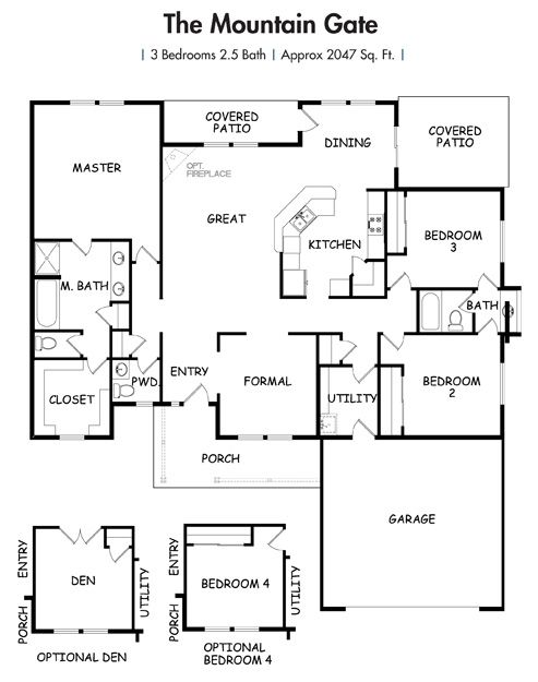 Floor Plans Build On Your Land The Mountain Gate Model Simplicity Homes