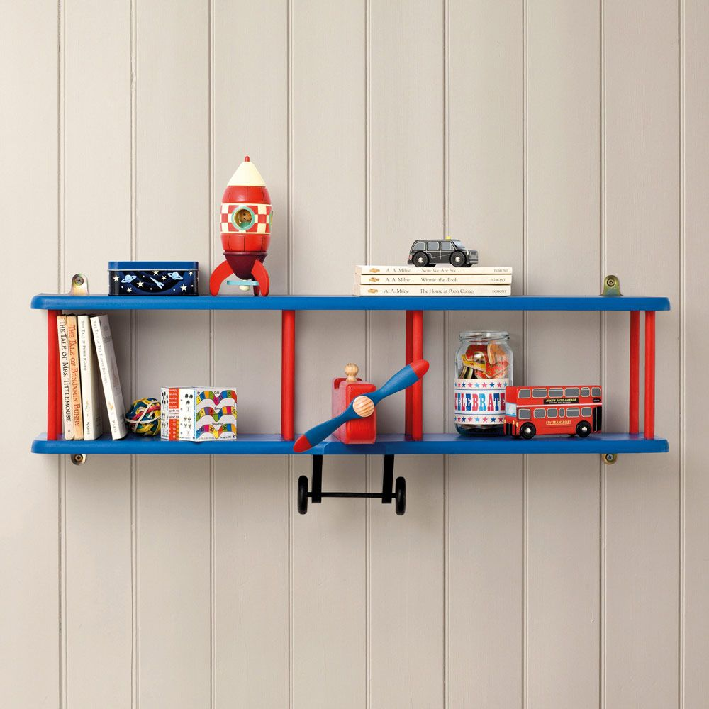 Bi plane wall shelf bookcases bookshelves children 39 s for Bookcases for kids room