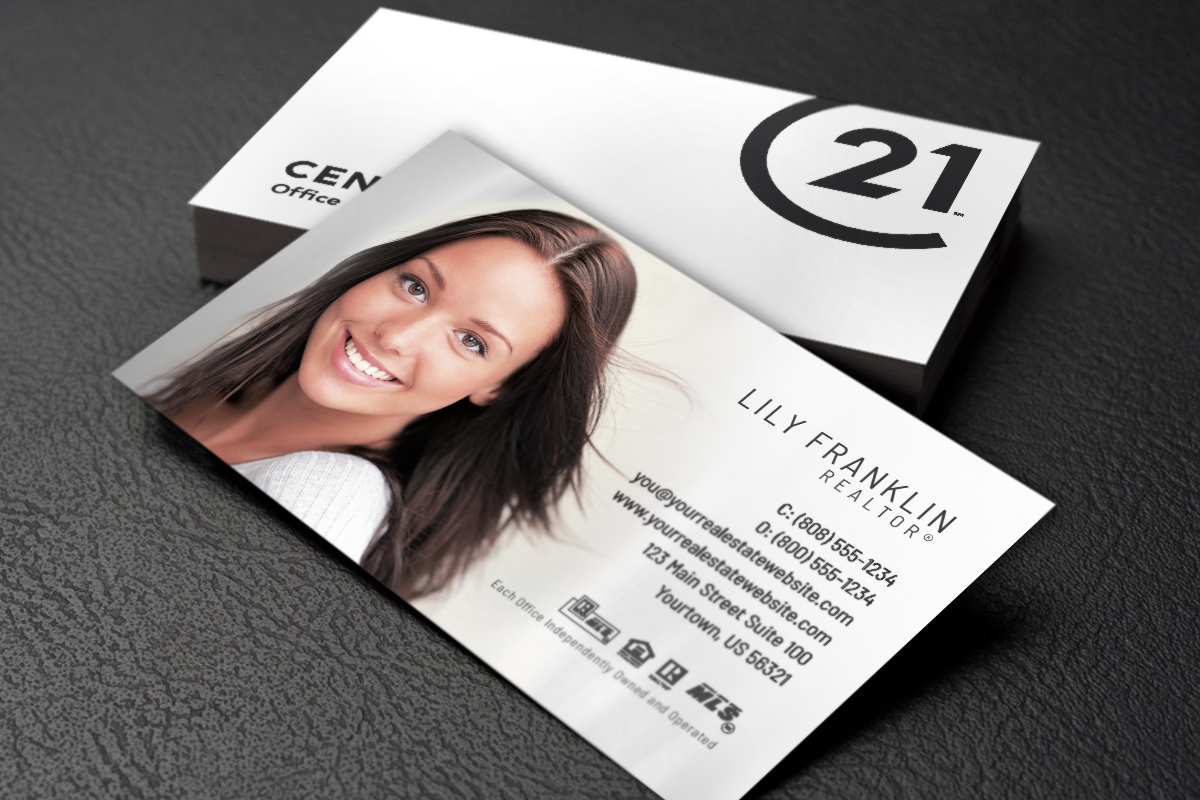 Brand New Business Card Designs Are Now Available For Century 21 Agents Realtor Cent Business Card Template Design Real Estate Business Cards Business Cards