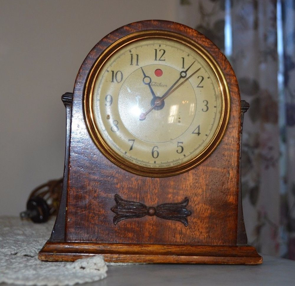 1927 Telechron Electric Mantle Clock, Mahogany 3F55, For Restoration