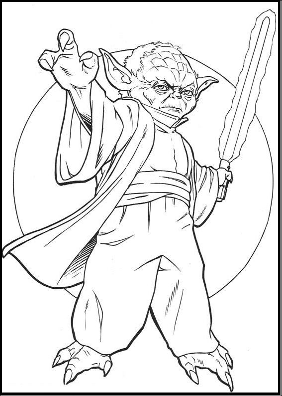 Yoda The True Warrior coloring picture for kids