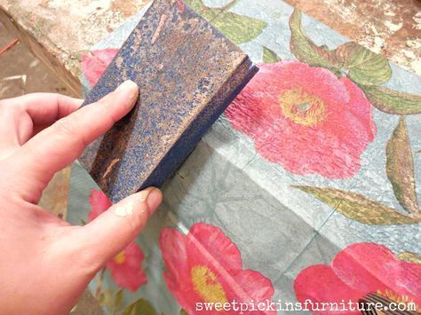 Floral Wood Tutorial – Using Napkins!