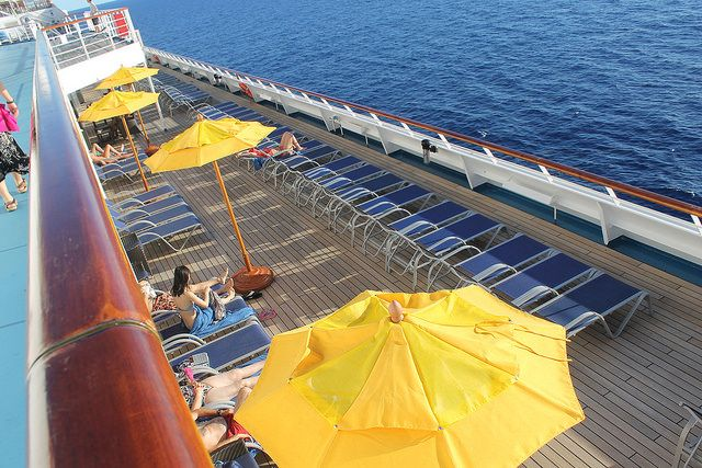 Carnival cruise ship deck