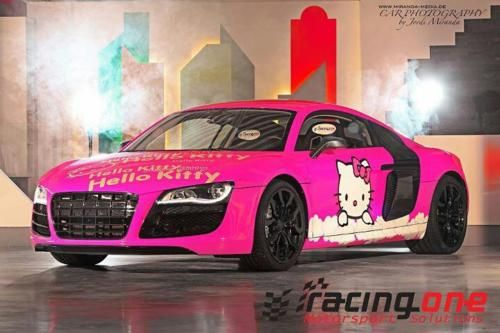 Pink R8 Hello Kitty Car Pink Car Hello Kitty House