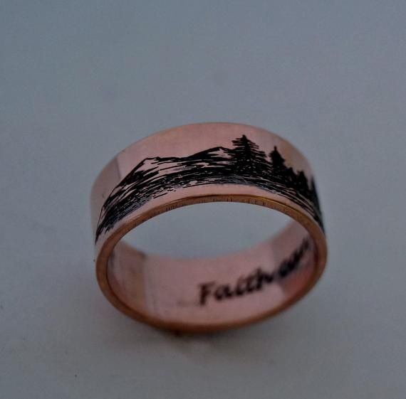 Custom Personalized Wedding Tree Rings